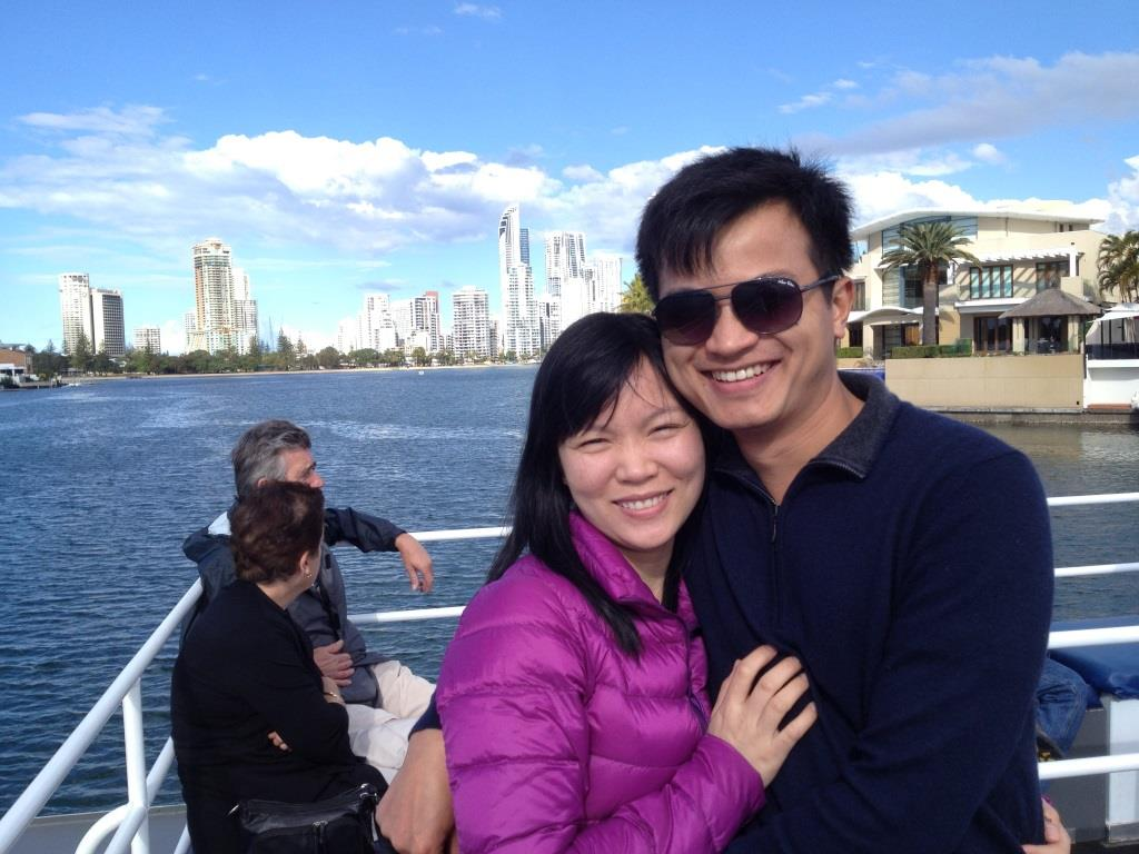 Tuyen Le and partner at Nerang River in Gold Coast